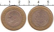 Изображение Монеты Турция 1 лира 2012 Биметалл XF Ататюрк.