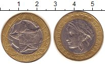 Изображение Монеты Италия 1000 лир 1997 Биметалл XF