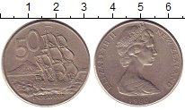 Изображение Монеты Новая Зеландия 50 центов 1980 Медно-никель XF Елизавета II