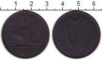 Изображение Монеты Ирландия 1 пенни 1928 Бронза VF Курица
