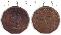 Изображение Монеты Мальта 50 центов 1972 Медно-никель XF- номинал - монумент