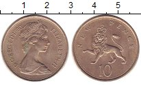 Изображение Монеты Великобритания 10 пенсов 1980 Медно-никель XF