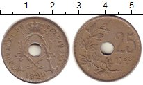 Изображение Монеты Бельгия 25 сентим 1929 Медно-никель XF
