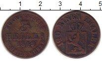 Изображение Монеты Гессен-Кассель 3 хеллера 1849 Медь VF