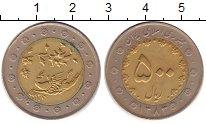 Изображение Монеты Иран 500 риалов 2004 Биметалл XF