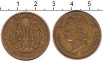 Изображение Монеты Французская Африка 25 франков 1956 Латунь XF
