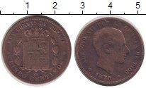 Изображение Монеты Испания 5 сентим 1878 Медь VF