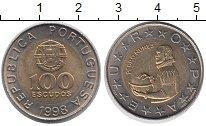 Изображение Монеты Португалия 100 эскудо 1998 Биметалл UNC-