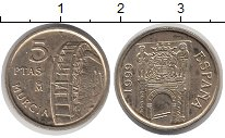 Изображение Монеты Испания 5 песет 1999 Латунь XF