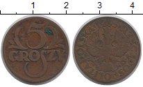 Изображение Монеты Польша 5 грош 1935 Бронза XF-