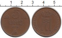 Изображение Монеты Норвегия 5 эре 1938 Бронза XF Хокон VII