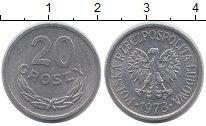 Изображение Монеты Польша 20 грош 1973 Алюминий UNC-