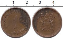 Изображение Монеты Родезия 1 цент 1976 Бронза XF-