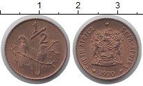 Изображение Монеты ЮАР 1/2 цента 1970 Бронза UNC-