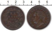 Изображение Монеты Португалия 20 рейс 1883 Бронза XF-