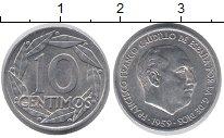 Изображение Монеты Испания 10 сантим 1959 Алюминий UNC-