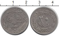 Изображение Монеты Турция 20 пар 1913 Медно-никель XF-