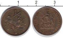 Изображение Монеты ЮАР 1/2 цента 1971 Бронза UNC-
