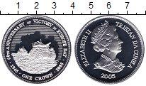 Изображение Монеты Тристан-да-Кунья 1 крона 2005 Серебро Proof Елизавета II. 60  ле