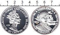 Изображение Монеты Теркc и Кайкос 20 крон 1994 Серебро Proof-