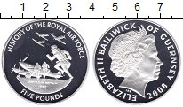 Изображение Монеты Гернси 5 фунтов 2008 Серебро Proof