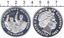 Изображение Монеты Гернси 5 фунтов 2005 Серебро Proof
