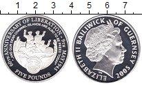 Изображение Монеты Гернси 5 фунтов 2005 Серебро Proof-
