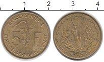 Изображение Монеты Западная Африка 5 франков 2010 Латунь XF