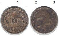 Изображение Монеты Дания 10 эре 1899 Серебро VF Кристиан IX