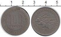 Изображение Монеты Камерун 100 франков 1971 Медно-никель XF три антилопы