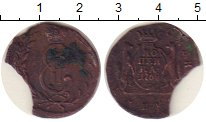 Изображение Монеты 1762 – 1796 Екатерина II 1 копейка 1769 Медь  КМ. Сибирь. Брак