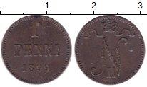 Изображение Монеты 1894 – 1917 Николай II 1 пенни 1899 Медь