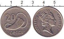 Изображение Барахолка Фиджи 20 центов 1992 Медно-никель XF