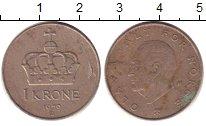 Изображение Дешевые монеты Норвегия 1 крона 1979 Медно-никель XF-