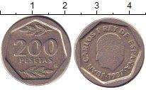 Изображение Дешевые монеты Испания 200 песет 1987 Медно-никель VF+