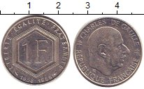 Изображение Дешевые монеты Франция 1 франк 1988 Медно-никель XF-
