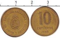 Изображение Дешевые монеты Аргентина 10 сентаво 1993 Латунь XF-