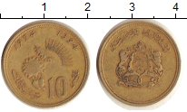 Изображение Дешевые монеты Марокко 10 сантим 1974 Кожа VF-