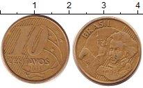 Изображение Дешевые монеты Бразилия 10 сентаво 2003 Латунь XF-