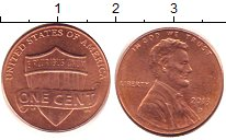Изображение Дешевые монеты США 1 цент 2013 Медь XF