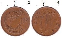 Изображение Дешевые монеты Ирландия 1 пенни 1978 Медь XF-