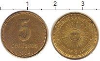 Изображение Дешевые монеты Аргентина 5 сентаво 2010 Латунь VF+