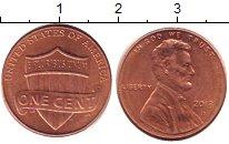 Изображение Дешевые монеты США 1 цент 2013 Медь XF-