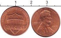 Изображение Дешевые монеты США 1 цент 2010 сталь с медным покрытием XF