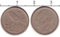 Изображение Дешевые монеты Норвегия 25 эре 1960 Медно-никель VF