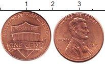 Изображение Дешевые монеты США 1 цент 2013 сталь с медным покрытием XF
