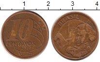 Изображение Дешевые монеты Бразилия 10 сентаво 2010 Латунь XF