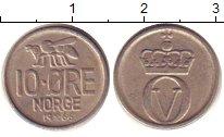 Изображение Дешевые монеты Норвегия 10 эре 1966 Медно-никель XF-