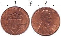Изображение Барахолка США 1 цент 2010 Латунь-сталь XF-