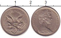 Изображение Дешевые монеты Австралия 5 центов 1969 Медно-никель XF-